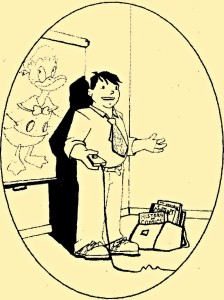 Cartoon of Christopher Couch
